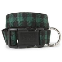 Green Buffalo Check Dog Collar