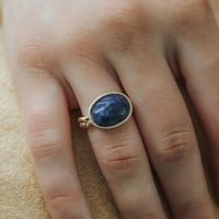 Fond of You Ring - Navy
