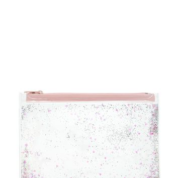 Confetti Heart Makeup Bag