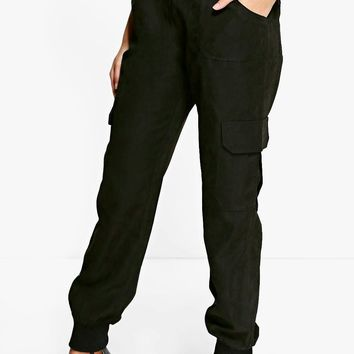 Royah Soft Touch Pocket Side Woven Joggers