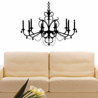 WALL DECAL VINYL STICKER CHANDELIER CEILING LAMP DECOR SB537
