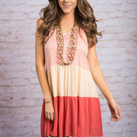 Positive Perspective Dress, Coral