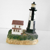 Lighthouse Figurine Cape Henry Va 1881 Beach Decor Nautical Home