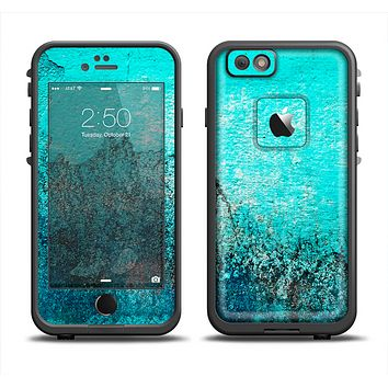 The Grungy Teal Surface V3 Apple iPhone 6 LifeProof Fre Case Skin Set