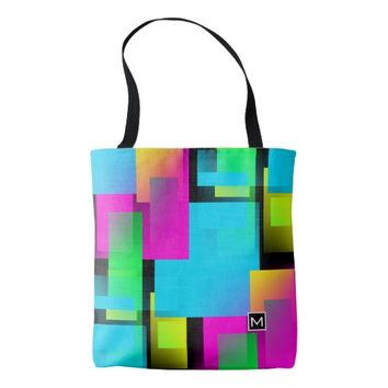 Monogram RA Rainbow Blocks Tote Bag