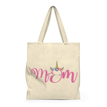 Unicorn Mom Shoulder Tote Bag  Roomy, Gift For Her, Weekender, Gift for Mom, Stylish Bag, Mom Bag, Luggage, Travel, Duffel, duffle bag