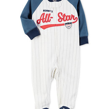 Carter's 1-Pc. Mommy's All-Star Footed Coverall, Baby Boys (0-24 months) | macys.com
