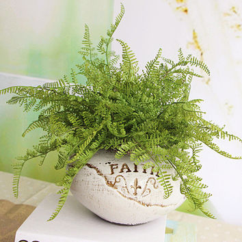 New Hight Quality Beauty Fern Fake Plant Artificial Floral Leave Foliage Home Party Decor Decoration