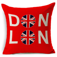 MYJ 2016 European Decorative Cushions New Arrival London Style Throw Pillows Car Home Decor Cushion Decor print your name