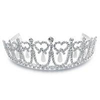 Bling Jewelry Pearl Princess Tiara