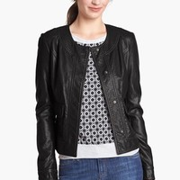 KUT from the Kloth Faux Leather Snap Front Jacket | Nordstrom
