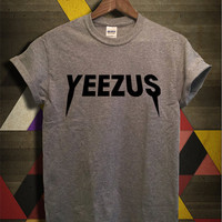 Yeezus Shirt Kanye West Yeezus Tour Tshirt Grey Color Unisex Size - 051