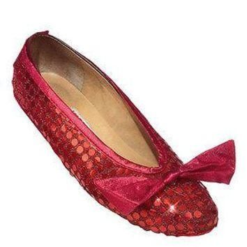 Adult Red Sequin Wizard of Oz Shoe Covers For Halloween