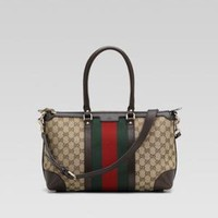 Gucci - Vintage Web Medium Tote - Bergdorf Goodman