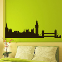 Vinyl Wall Decals London Skyline City Silhouette Sticker Home Decor Art Mural Z600