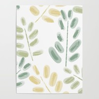 Plant Pattern Poster by sm0w