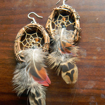 Woodland Goddess Dream Catcher Earrings