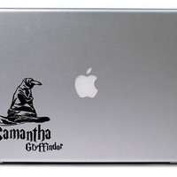 Sorting Hat Decal / Harry Potter Decal / Macbook Decal / Laptop Sticker / Laptop Decal / Harry Potter Sticker