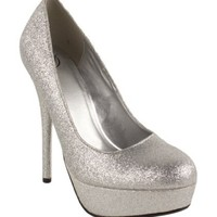 Jones! By Delicious Platform Stiletto High-heel Dress Pumps in Silver Glitter,Jonesv2.0 Silver Glitter 10