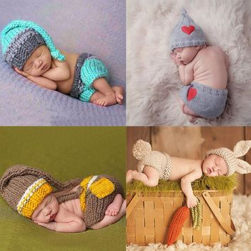 Cute Crochet costumes for New born Photo shoots