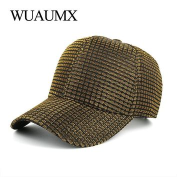 Trendy Winter Jacket Wuaumx New arrival Spring Summer Baseball Cap For Men And Women Caps for Girls Silver Golden Snapback Cap Fashion Hat Casquette AT_92_12