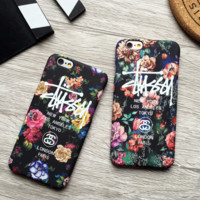 Flower Printed Stussy Iphone 7 7 Plus & 6 6s plus Cover Case