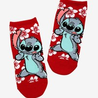 Disney Lilo & Stitch Hibiscus Stitch No-Show Socks