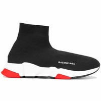 Balenciaga Speed Sneakers Black & Red Size 10 11 12 13 Mens Shoes New