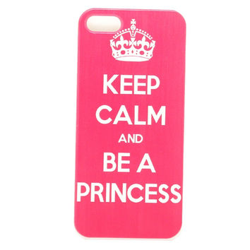 Keep Calm be a Princess Snap On white side Hard Plastic Mobile Phone Case Cover For Iphone 4 4S 5 5S 5C 6 6 Plus