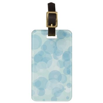 Blue Bubbles Bag Tags