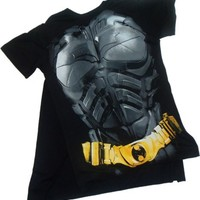 Batman -- The Dark Knight Rises -- Costume T-Shirt With Removable Cape