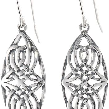 Sterling Silver Oxidized Celtic Infinity Knot Dangle Earrings