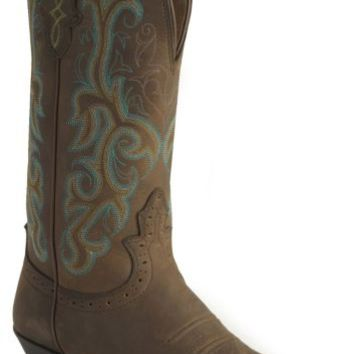 Justin Stampede Western Cowgirl Boots with Rubber Sole - Square Toe - Sheplers
