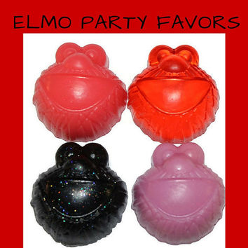 Elmo Soap Favor - Adorable Elmo Soaps for Sesame Street Theme Party, First Birthday, Baby Shower, Kids Scented Soap - Pack of 25