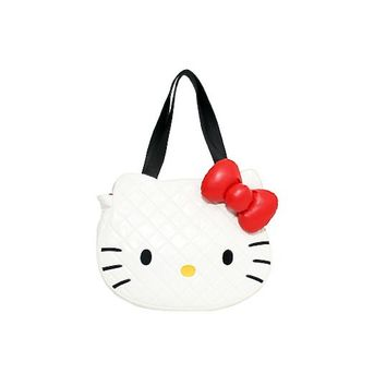 Loungefly – Hello Kitty Quilted Face Tote Bag In White|Thirteen Vintage