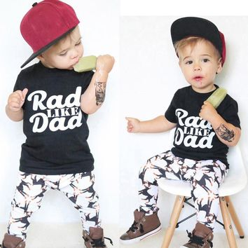 Baby boys clothes set Toddler Baby Kids Boy Print Tops Shirt Pants Outfit Set Clothes children clothes