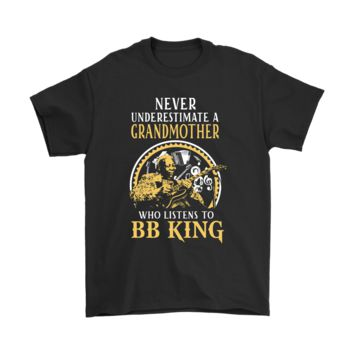 ESBV4S Never Underestimate A Grandmother Who Listens To BB King Shirts