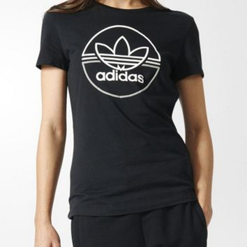 Adidas Round-neck Short-sleeve T-shirt