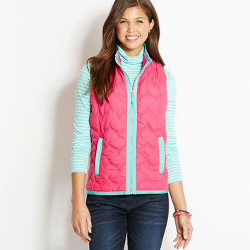 Shop Outerwear: Whale Chevron Embroidered Vest for Women | Vineyard Vines