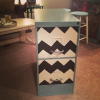 chevron painted legal filing cabinet