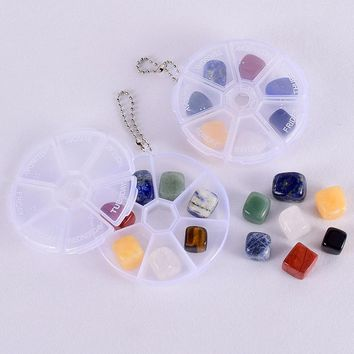 7 pieces/box 10-15 mm Natural Chakra Stones Tumbled Gemstone Rock Mineral Crystal polish Healing meditation for feng shui decor