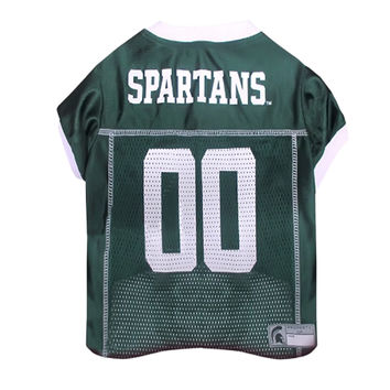 Mirage Pet Sports Fan Team Logo Design Michigan State Spartans Pet Dog Cat Comfortable Jersey Extra Small