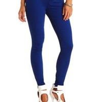 "Refuge ""Skin Tight Legging"" Colored Skinny Jeans - Cobalt"