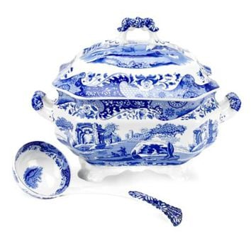 Spode® Blue Italian Soup Tureen and Ladle