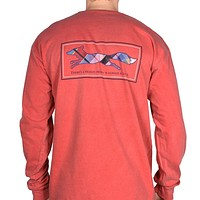 Longshanks Long Sleeve Tee Shirt in Crimson Red by Country Club Prep