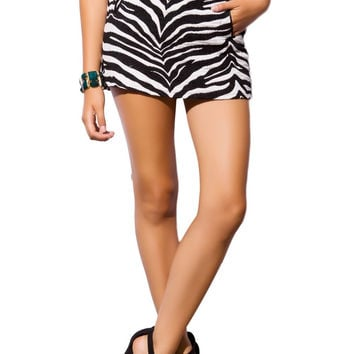 Q2 Black Zebra Print Skirt