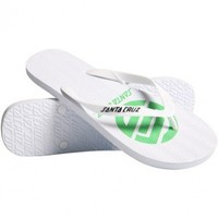 Santa Cruz Boys Strip Knot Flip Flop White