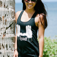 H's (Hawaii) Flowy Tank - Black — Delight Brand Clothing