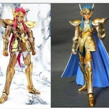 metal club metalclub Aquarius Camus Saint Seiya action figure doll toy gold Saint cloth myth ex model gifts