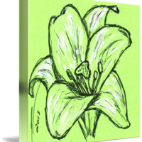 """""""Green Lily"""" by Nicole Porter"""